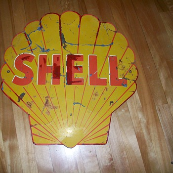 Antique SHELL sign from Alberta Canada... - Petroliana