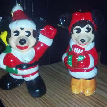 Vintage Santa Ornaments