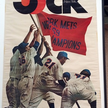 NEW YORK METS JOCK MAGAZINE POSTER 1969 - Baseball