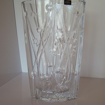 Contemporary Bohemia crystal vase - Art Glass