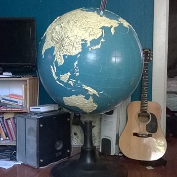 Mega Huge 1954 Braille globe!  - Office