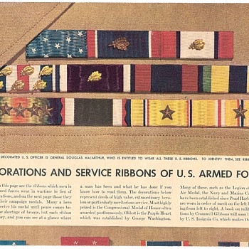 Military Decorations and Awards Chart - Military and Wartime
