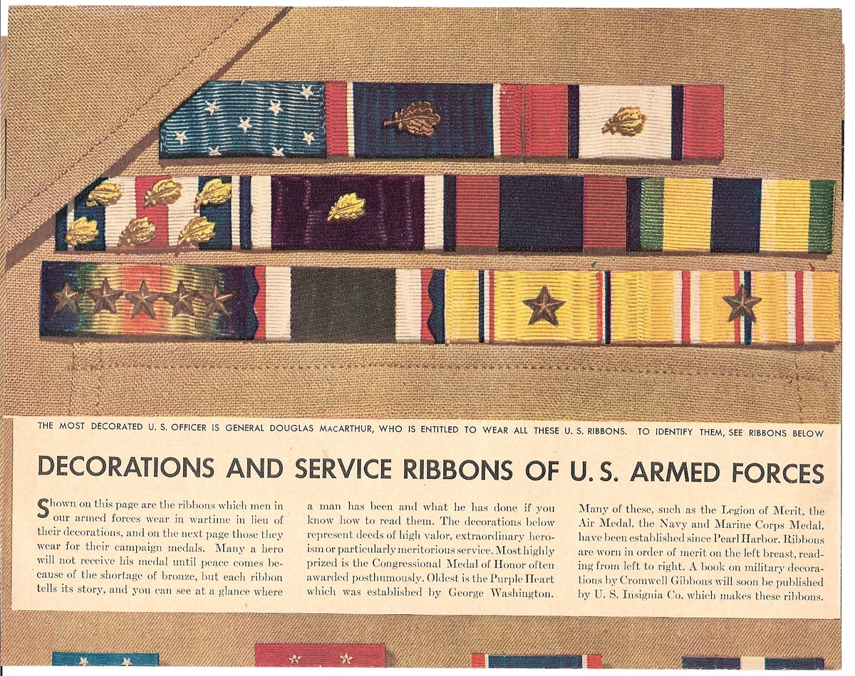 military decorations and awards chart collectors weekly - Military Decorations