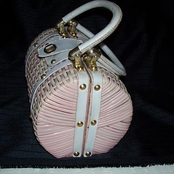 pink straw bag - Bags