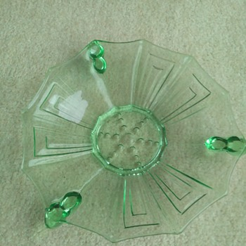 green glass Art Deco