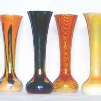 IMPERIAL 623 FREE-HAND AND LEAD LUSTRE COLLECTION. - Art Glass