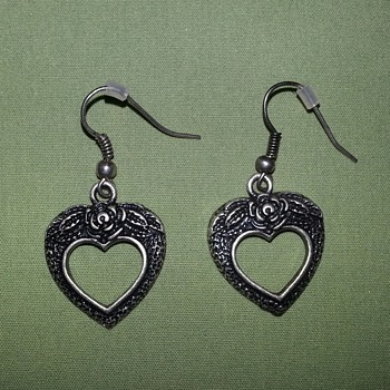 Heart Earrings - Costume Jewelry