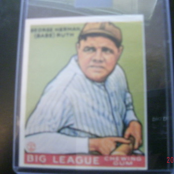 1933 GOUDEY BABE RUTH CARD #181