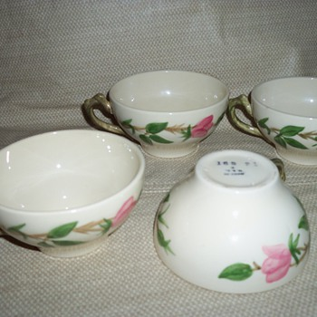1941 Desert Rose Coffee Cups - China and Dinnerware