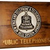 New England Telephone & Telegraph Company Public Telephones Wooden Sign