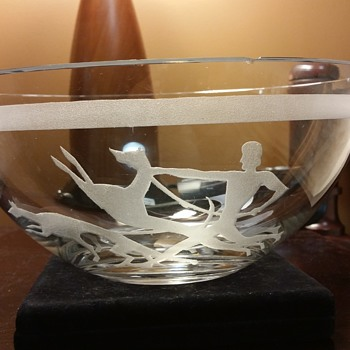 deco crystal bowl