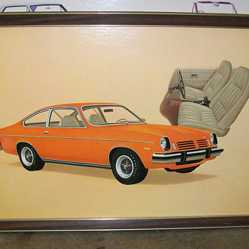 1972 Chevy Vega showroom poster - Classic Cars