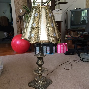 Very ornate Lamp that needs a piece of slag glass