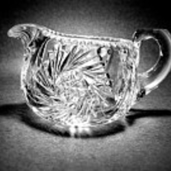 Signed Tuthill creamer ab cut glass