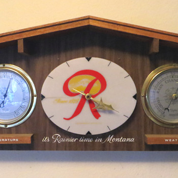 Rainier Clock/Weather Station - Breweriana