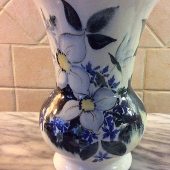 A Handpainted Vase - Pottery