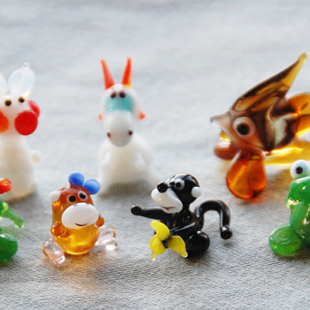 Russian Art Glass Animal Figurines