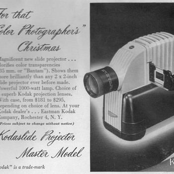 1948 - Kodak Slide Projector Advertisement