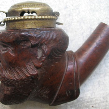 BRIAR PIPE WITH COVER