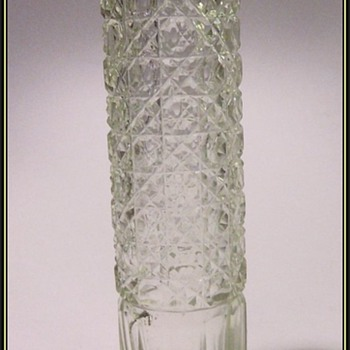 Crystal Cut Glass Vase -- UNKNOWN
