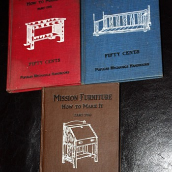 How to Make Mission Furniture Vols 1, 2, and 3 - Books