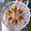 Orange and Yellow Glass Pin Dish