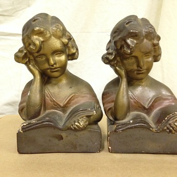 Love these old bookends - Pottery