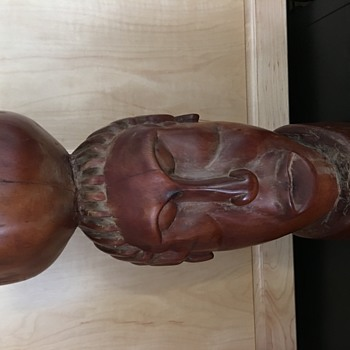Very heavy wood carving.  African?