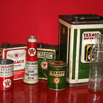 Texaco oil cans collection - Petroliana