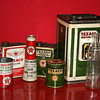 Texaco oil cans collection