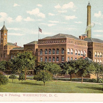 Bureau of Engraving and Printing. Washington D.C. - Postcards