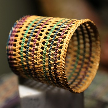 Tiny Open-weave Basket in 5 Colors - Native American