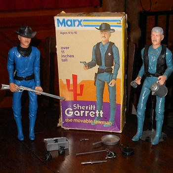 Marx Johmmy West Sheriff Garrett in Cactius Mod Box 1973