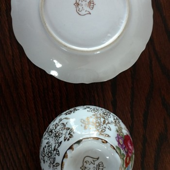 Tea cup and saucer. Can't identify markings!