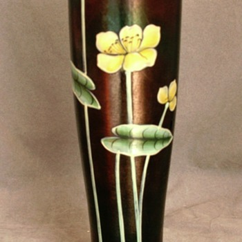 Ferdinand von Poschinger Enameled Vase c. 1900 - Art Glass