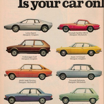 1978 Fiat Automobile Advertisement