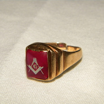 Antique Freemason Ring - Fine Jewelry