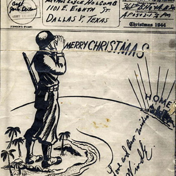 V Mail Christmas Card 1944 - Cards