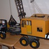 LARGE METAL, PLASTIC, HEAVY TRUCK CRANE w7 LIONEL MOTORS 