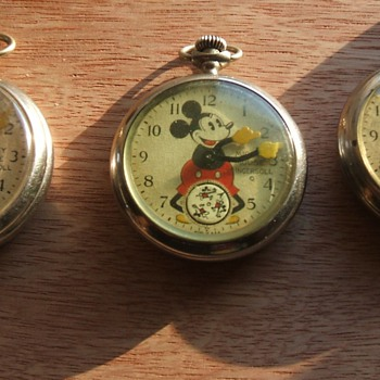 1933-37 U.S. Mickey Mouse Pocket Watch - Pocket Watches