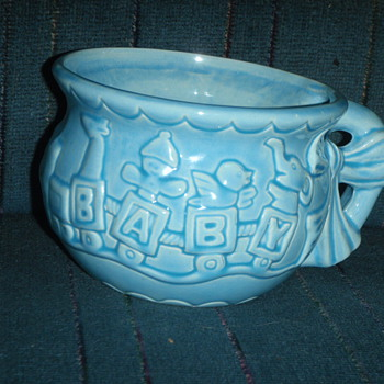 CCC 009 USA Pottery Large Baby Mug - Art Pottery