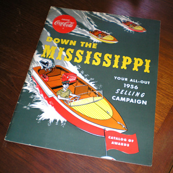 1956 Coca-Cola &quot;Down The Mississippi&quot; Awards Catalog - Coca-Cola