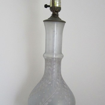 Glass paited lamp set - Lamps