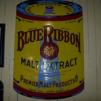 Pabst Blue Ribbon Malt Extract sign - Signs