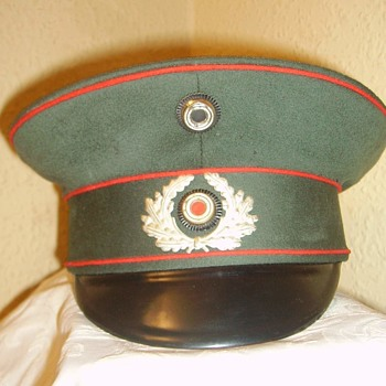 Weimar-Third Reich transitional Artillery officer/NCO visor cap - Military and Wartime