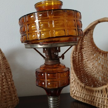 amber oil lamp - Lamps