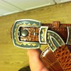 James Reid, Pueblo Buckle set, on an Alligator Belt