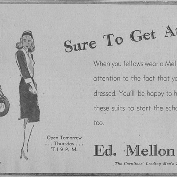 1945 - Mens Store Advertisement