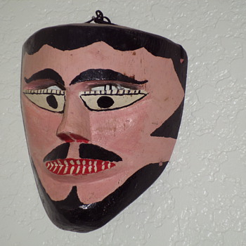 painted wood faces - Folk Art