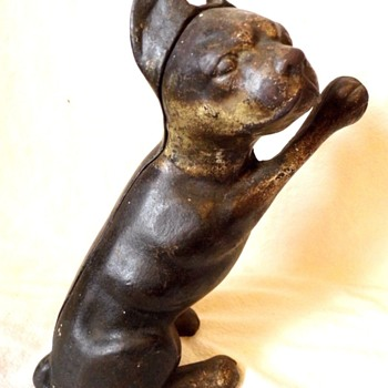 standing Boston Terrier Cast Iron door stop - Animals